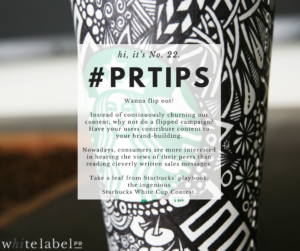 PR Tips: hi, it's No. 22.